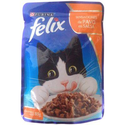 Alimento-para-gato-FELIX-sensaciones-de-pavo-en-salsa-doy-pack-x85-g.