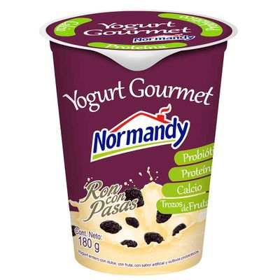 Yogurt-NORMANDY-probiotico-ron-pasas-x180ml