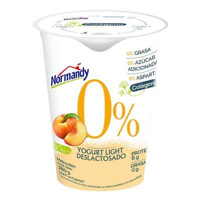 Yogurt-NORMANDY-melocoton-0-grasa-x180ml