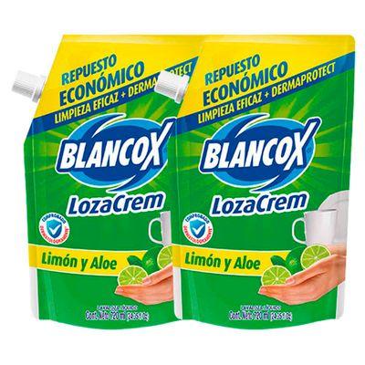 Lavaplatos-Liquido-BLANCOX-Lozacrem-Limon-2Un-720Ml-Repuesto-Doy-Pack
