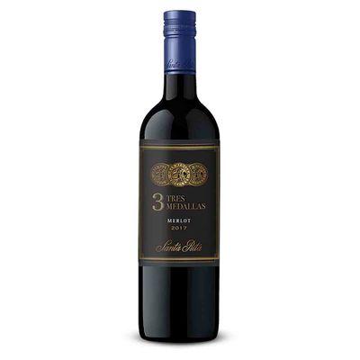 Vino-SANTA-RITA-750-TRES-MEDALLAS-MERLOT-6BT