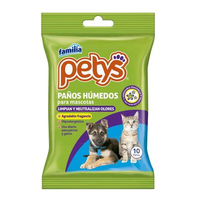 Panos-humedos-FAMILIA-petys-Mascotas-x10-Unds