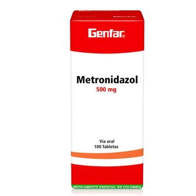 METRONIDAZOL-500MG-100TB-GF