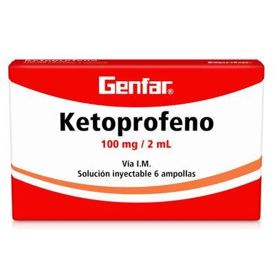 KETOPROFENO-INY-100MG2ML-6AMP-GF