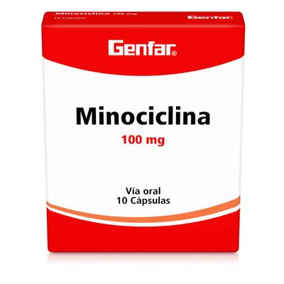 MINOCICLINA-100MG-10CAP-GF