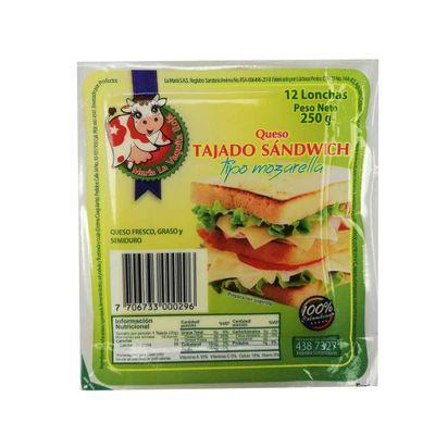 Queso-LA-MARA-mozzarella-tajado-sandwich