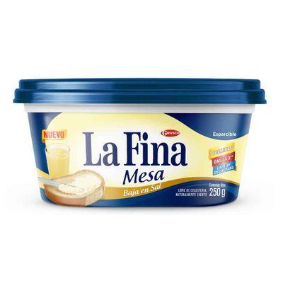 Margarina-LA-FINA-mesa-baja-en-sal-x250g