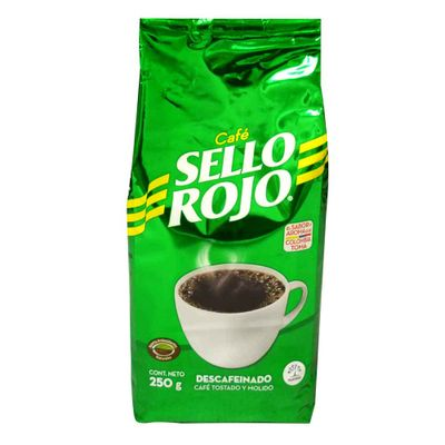 Cafe-SELLO-ROJO-250-Descafeinado-Bolsa