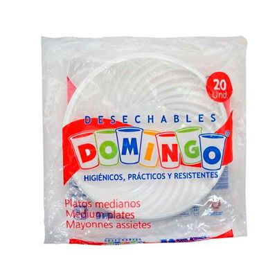 Plato-Desechable-DOMINGO-19Cm-Mediano-20Un_7602
