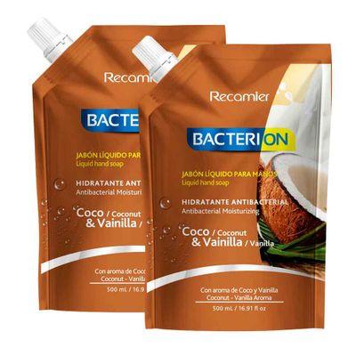 Jabon-liquido-BACTERION-coco-2unds-x500ml-precio-especial_36786